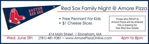 Redsox family night ad copy