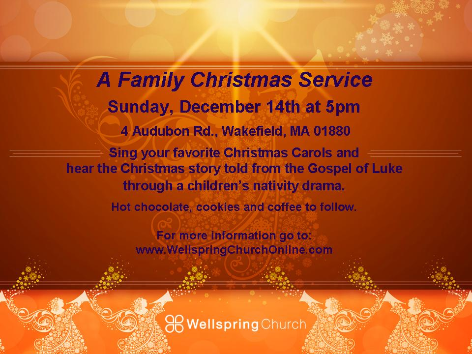 You Are Invited To A Special Christmas Service For The Whole