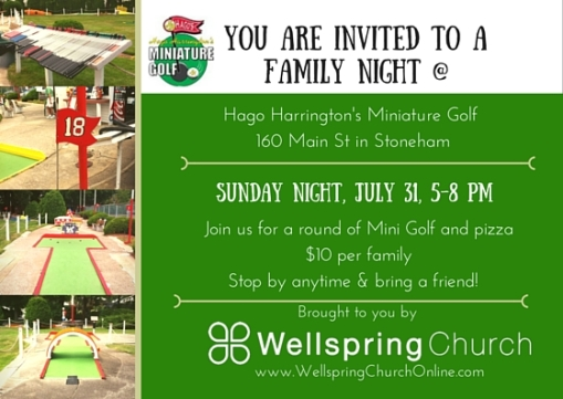 July Putt Putt Night